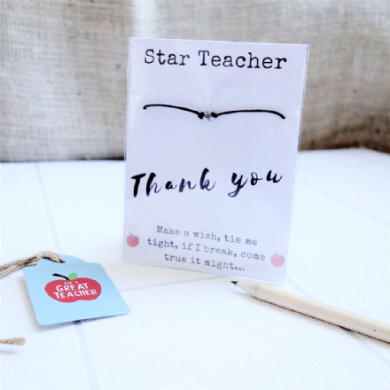 Wish String Bracelet - Star Teacher